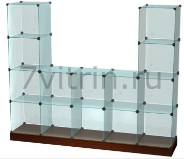 Витрина стеклянный куб Горка
