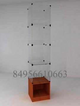 Стеклянный куб на тумбе 400