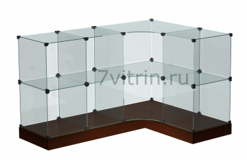 Стеклянный прилавок-витрина для продажи конфет угловой