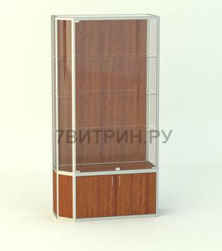 Алюминиевая витрина серии Агат без фриза