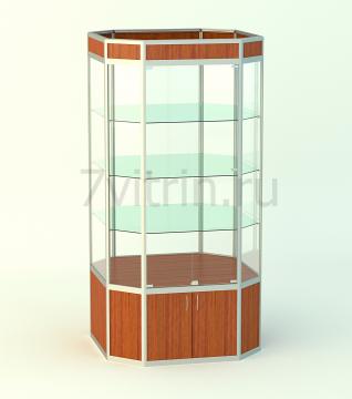 Стеклянная витрина для школьного музея Алмаз 1