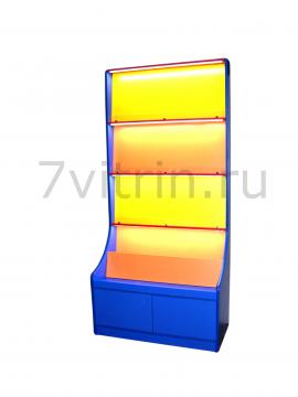 Книжный стеллаж со светодиодной подсветкой 2000х400х800
