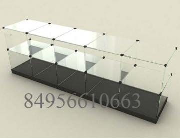 Стеклянный куб стол 10