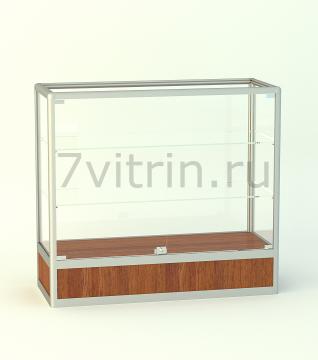 Алюминиевая музейная витрина горизонтальная прямая Бирюза 200
