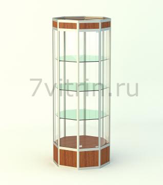 Алюминиевая музейная витрина вертикальная Алмаз 1000