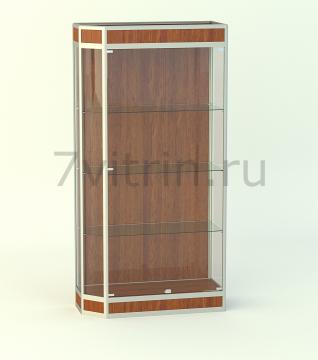 Алюминиевая музейная витрина вертикальная Агат 200 с фризом