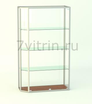 Алюминиевая музейная витрина вертикальная Агат 0 без фриза