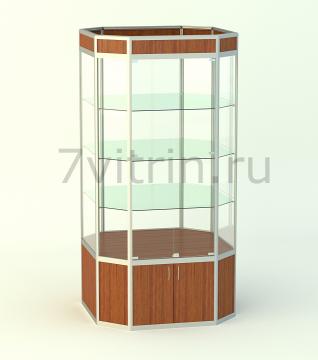 Музейная витрина вертикальная Алмаз трапеция