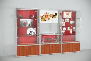 Комплект музейных витрин Экспонат