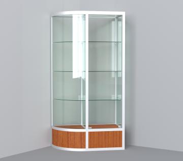 витрина для кубков 1000 мм с левым радиусом