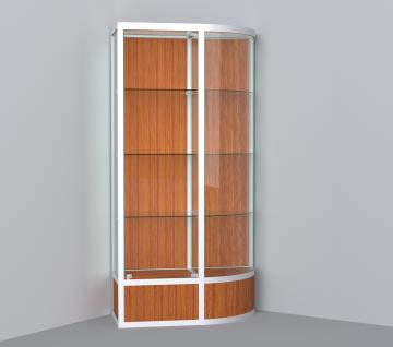 витрина для кубков 1000 мм с правым радиусом
