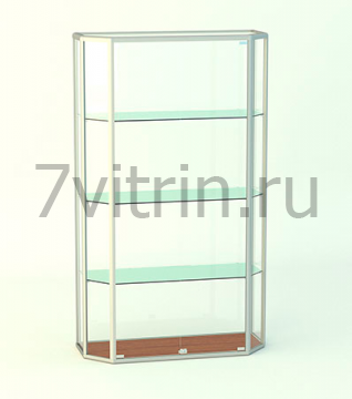 Навесная витрина для кубков без фриза АЛМАЗ