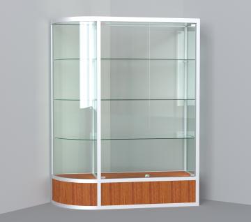 витрина для кубков 1500 мм с левым радиусом