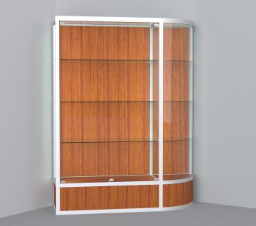 витрина для кубков 1500 мм с правым радиусом