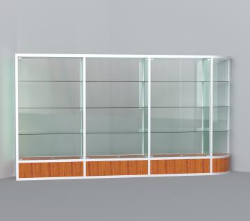 витрина для кубков 3500 мм с левым радиусом