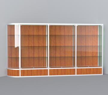 витрина для кубков 3500 мм с правым радиусом
