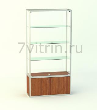 Алюминиевая музейная витрина вертикальная Агат 500 без фриза