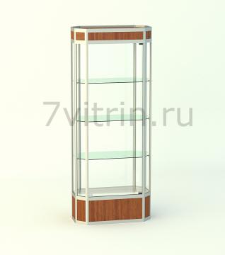 Алюминиевая музейная витрина вертикальная Алмаз 2