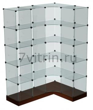 Стеклянная куб витрина для продажи конфет угловая
