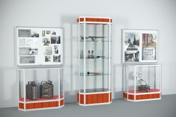 Комплект витрин и стендов для музея Славы Подвиг