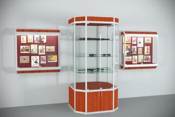 Комплект музейных витрин История
