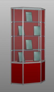 Витрина для музея Алмаз 3 без фриза
