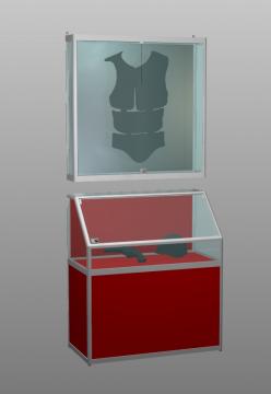 Комплект витрин с навесной витриной.