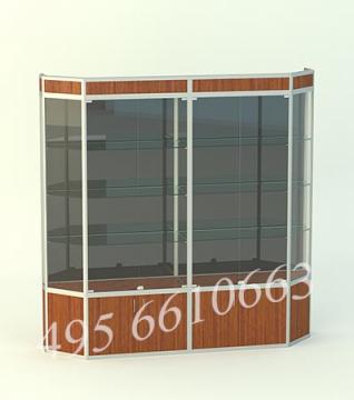 Витрина для кубков Алмаз 2-двухсекционный с накопителем