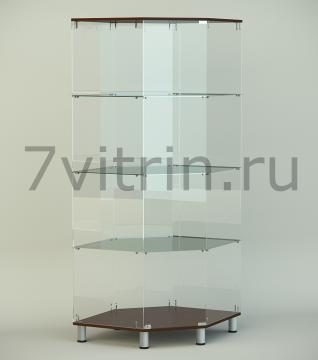 Стеклянная угловая витрина серии СТ 7