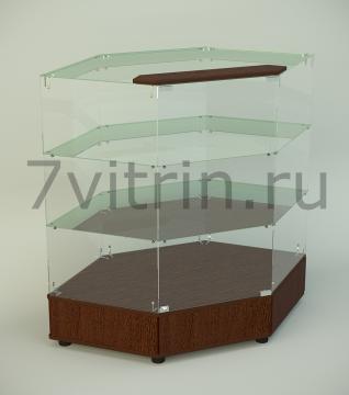 Стеклянная витрина серии СТPU 1