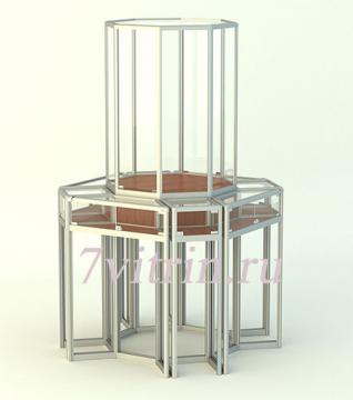 Стеклянная витрина для школьного музея ЛОТОС-Б