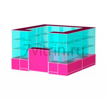 Павильон из стеклянных кубов