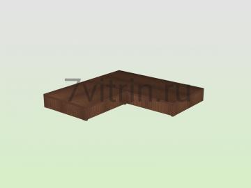 Подиум для витрины из кубиков