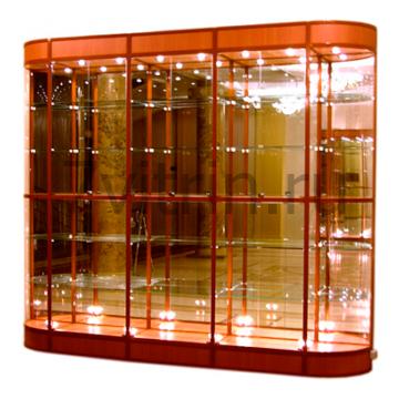 Витрина для кубков пятисекционная