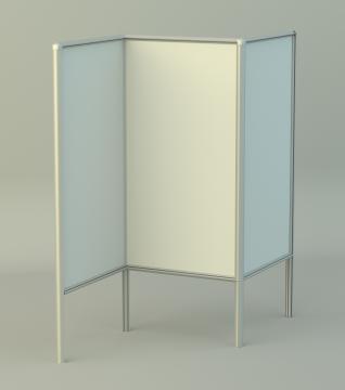 Информационный стенд трехсекционный