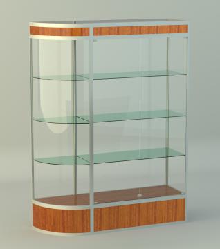 Витрина для кубков двухсекционная