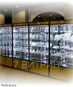 Торговая витрина со светодиодной подсветкой Бриллиант